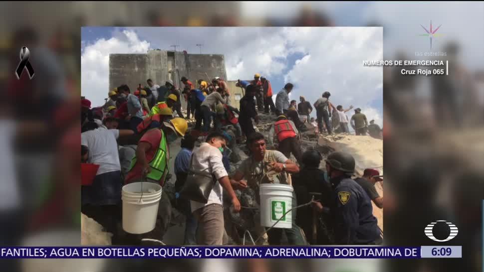 Redes sociales difunden imágenes de los rescates tras sismo en la CDMX