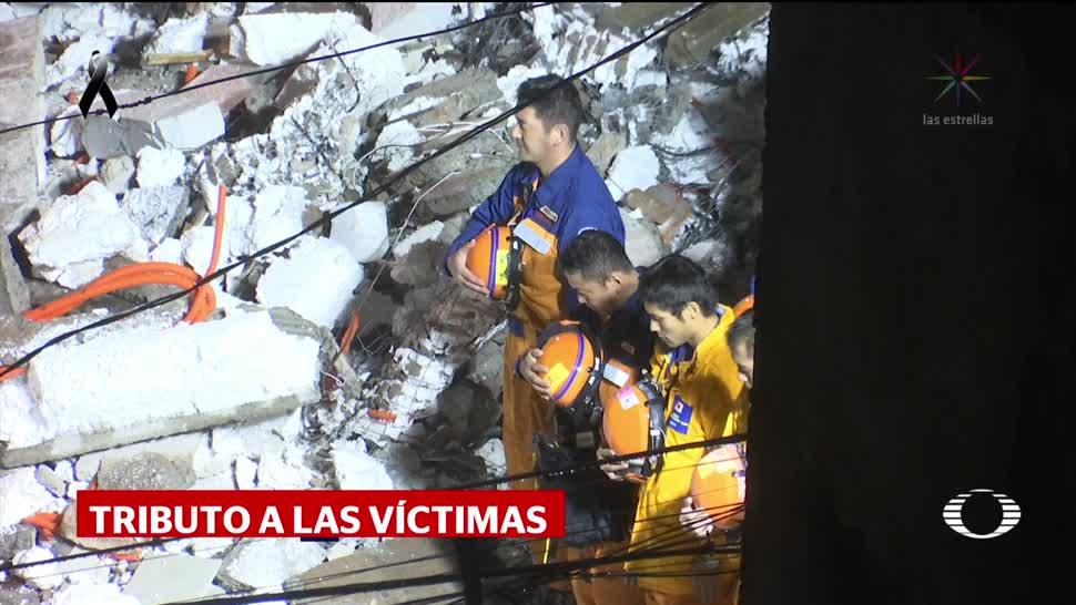 Japón rinde tributo a víctimas Brigistas Rescatistas
