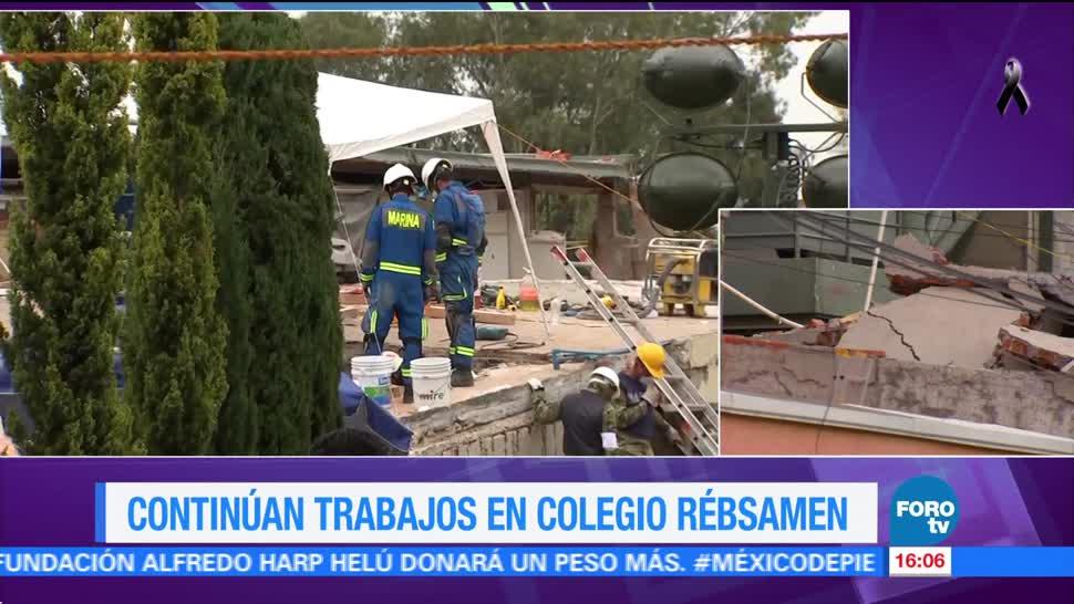Continúan labores de rescate de cuerpos en Colegio Rébsamen