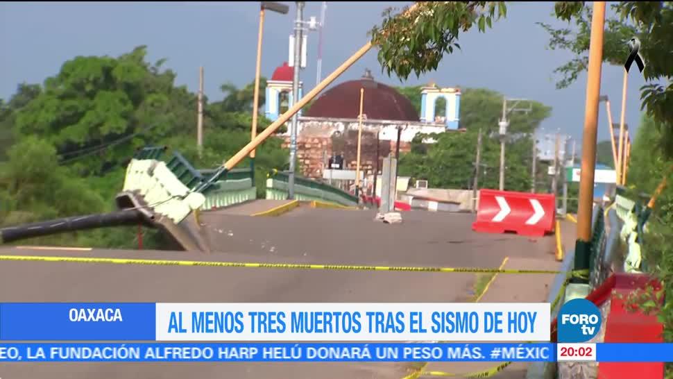 Aumenta a tres números de muertos en Oaxaca