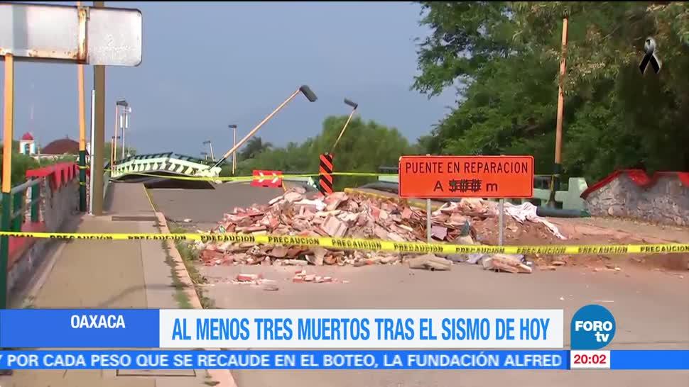 Se registran nuevos daños en Oaxaca tras sismo de este sábado