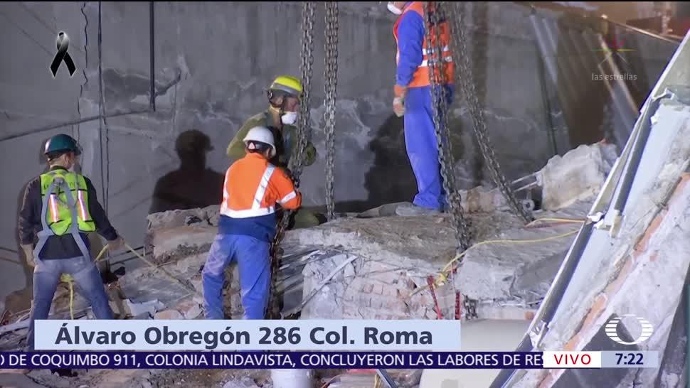 Al menos 40 personas siguen atrapadas en derrumbe de Álvaro Obregón 286