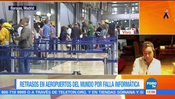 Falla informática genera retrasos en aeropuertos del mundo