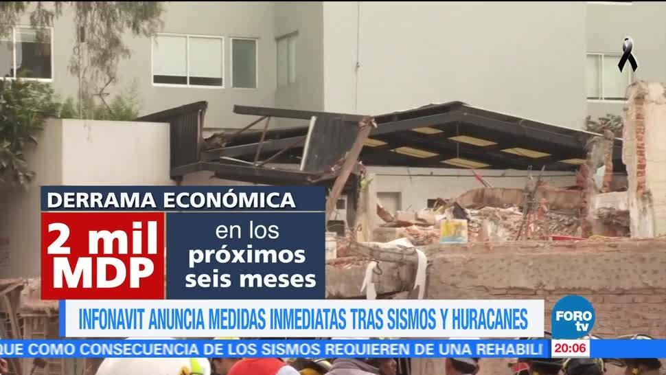 Infonavit anuncia medidas extraordinarias tras sismo