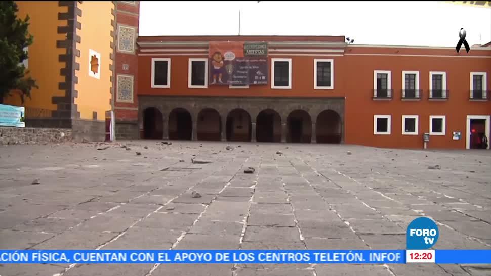 Sismo del 19 de septiembre daña la Biblioteca Palafoxiana de Puebla