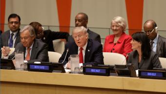 António Guterres, Donald Trump y Nikki Haley