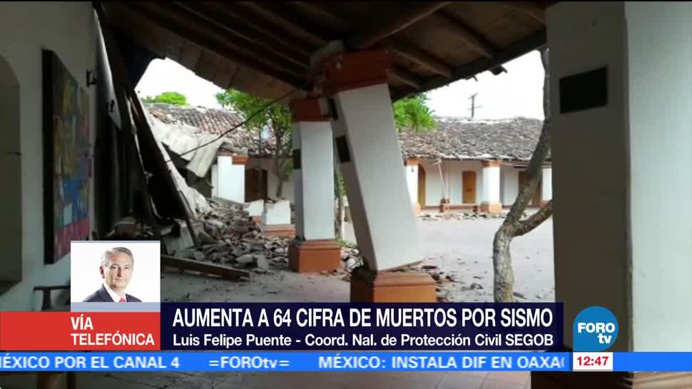 Aumenta 64 Cifra Muertos Sismo 8.2 Grados México