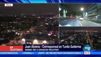 Chiapas activa protocolos de revisión tras sismo de 8 grados