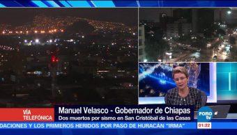 Confirman dos muertos en San Cristóbal de Las Casas Chiapas