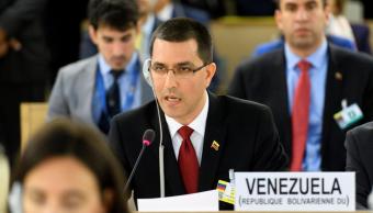 Jorge Arreaza, canciller venezolano, durante su alocución ante el Consejo de Derechos Humanos de la ONU