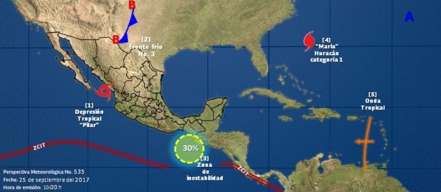 La tormenta tropical 'Pilar' se degrada a depresión tropical