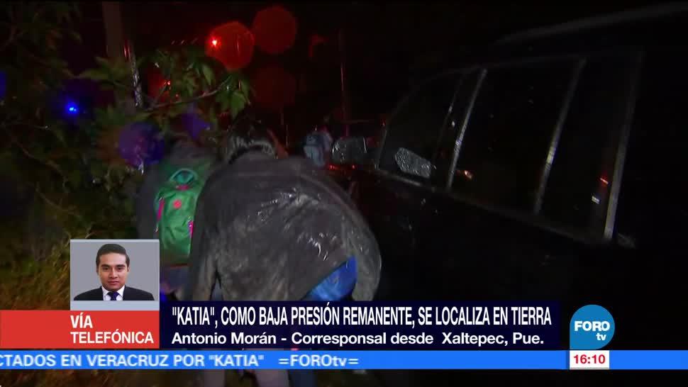 Las lluvias no cesan en Puebla por remanentes de 'Katia'