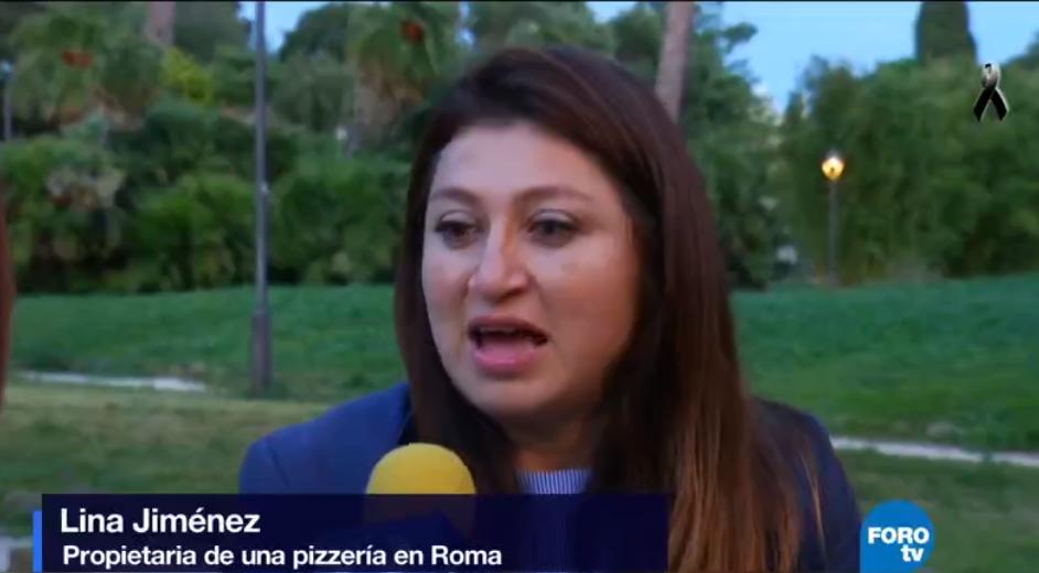 Lina Jiménez vive en Roma pero se solidariza con los mexicanos afectados por el terremoto