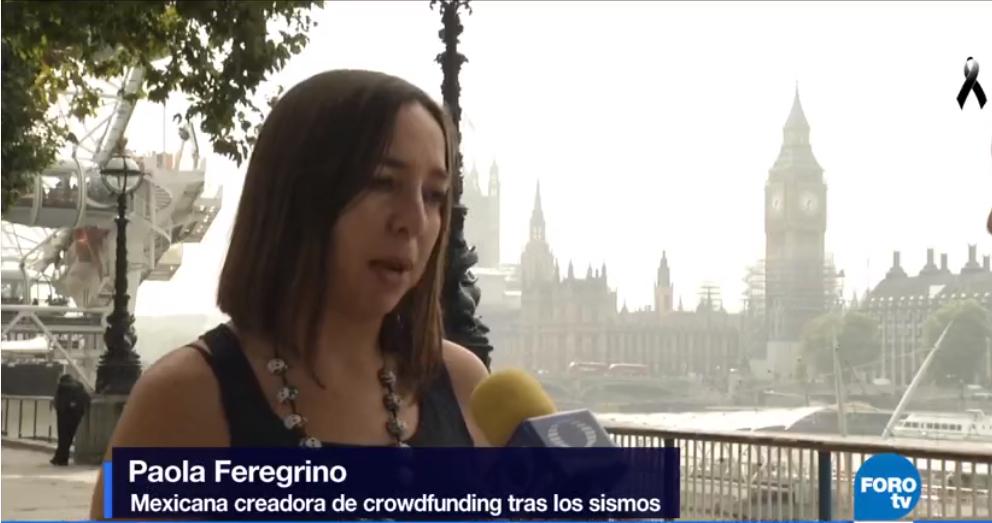 Paola Feregrino fundó un grupo de ayuda para damnificados en México