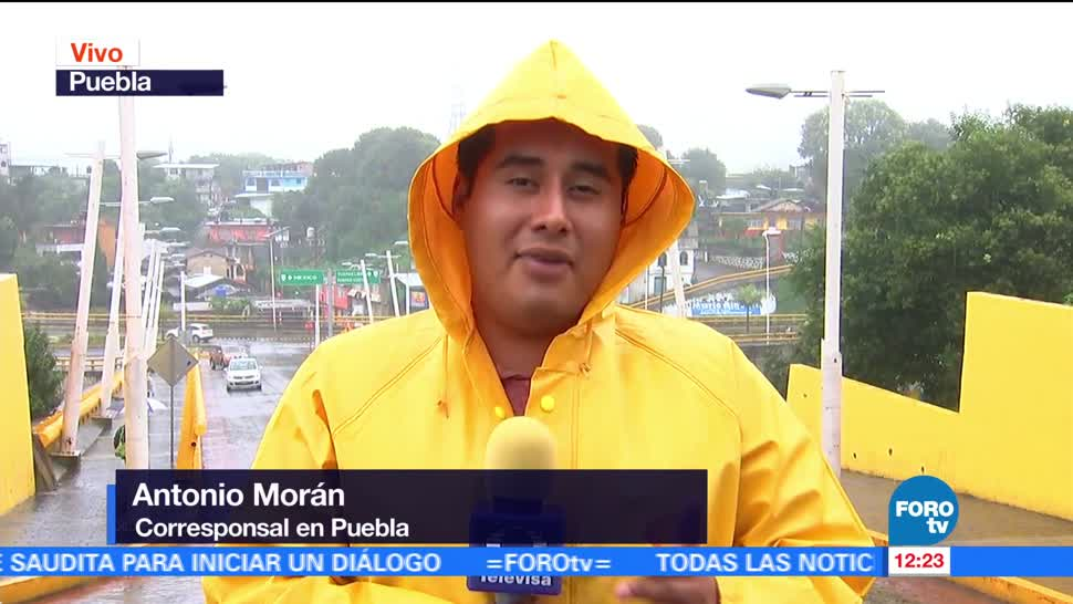 Puebla mantiene alerta Katia autoridades baja presión