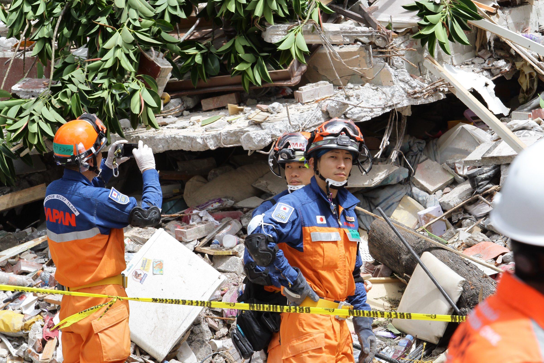 El equipo de rescatistas de Japon Sismo Mexico