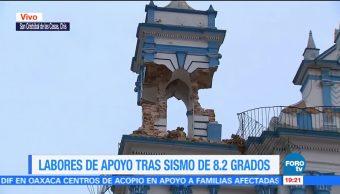 Sismo provoca afectaciones en monumentos de San Cristóbal de las Casas, Chiapas