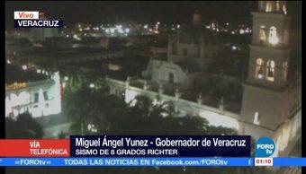 Veracruz sin daños tras sismo en CDMX