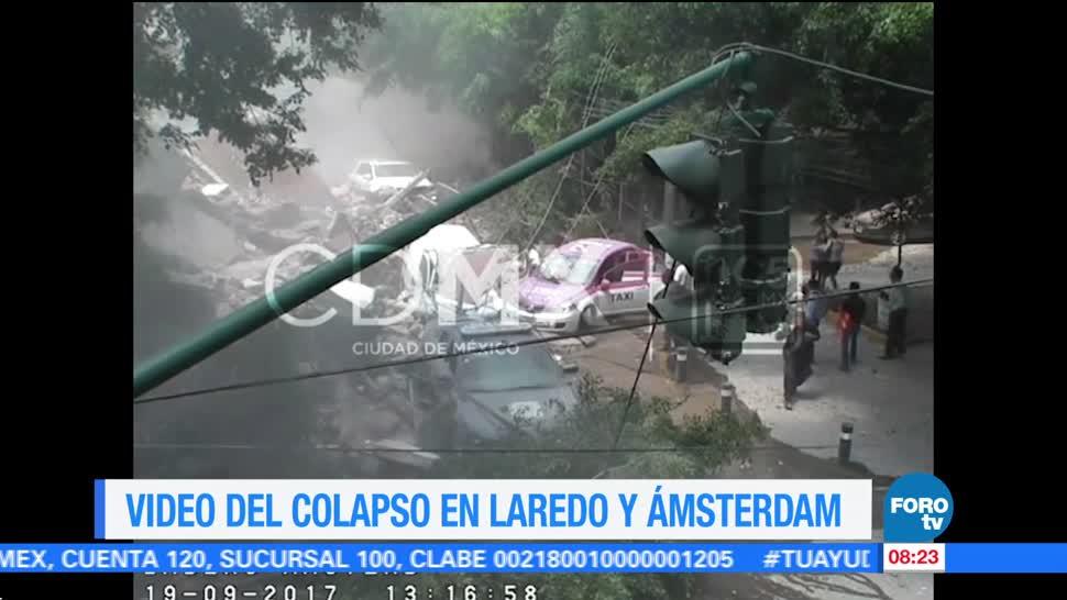 Difunden videos del colapso de inmuebles por sismo del 19 de septiembre