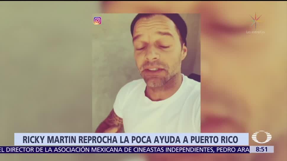 Tras paso del huracán 'María', Ricky Martin no encuentra a familiares