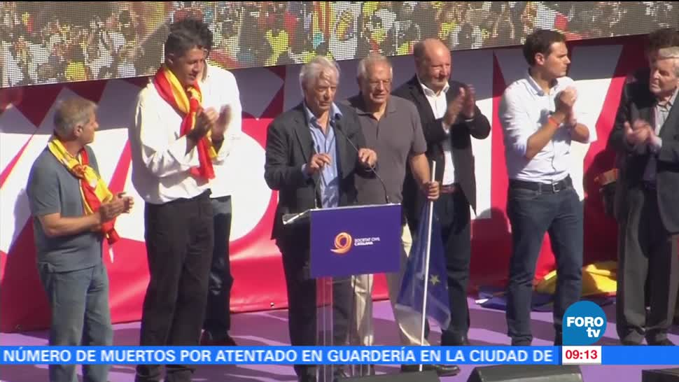 Discurso de Mario Vargas Llosa en manifestación en España