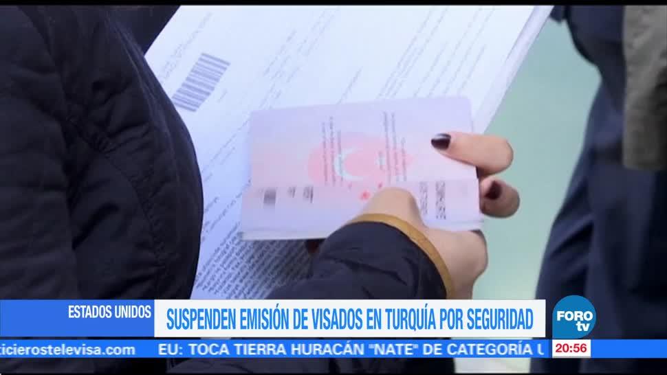 Suspenden la emisión de visas para Estados Unidos en Turquía