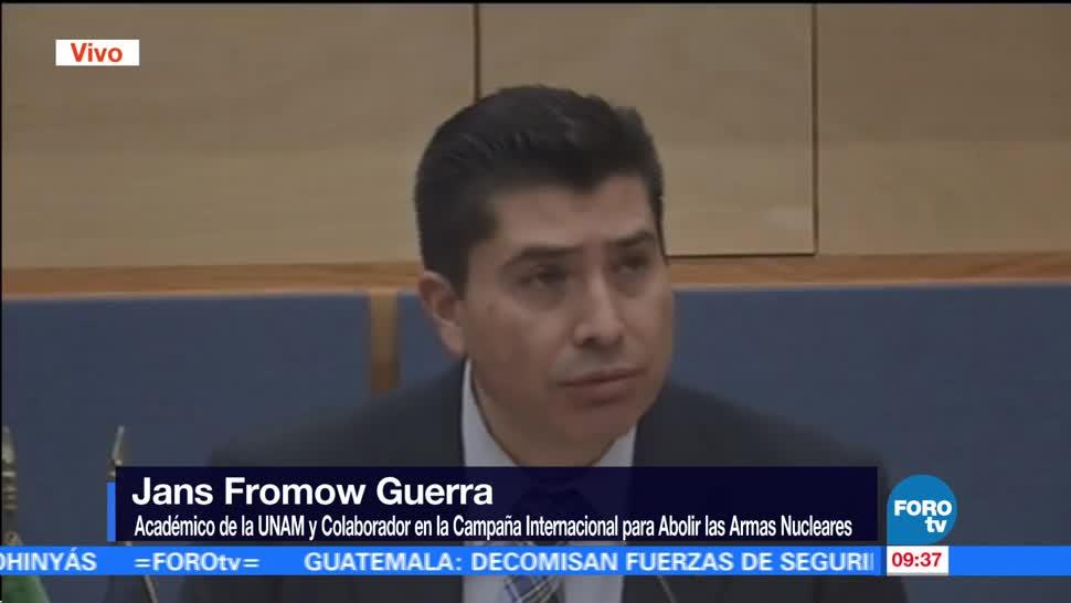 Jans Fromow, académico de la UNAM, condena uso de armas nucleares