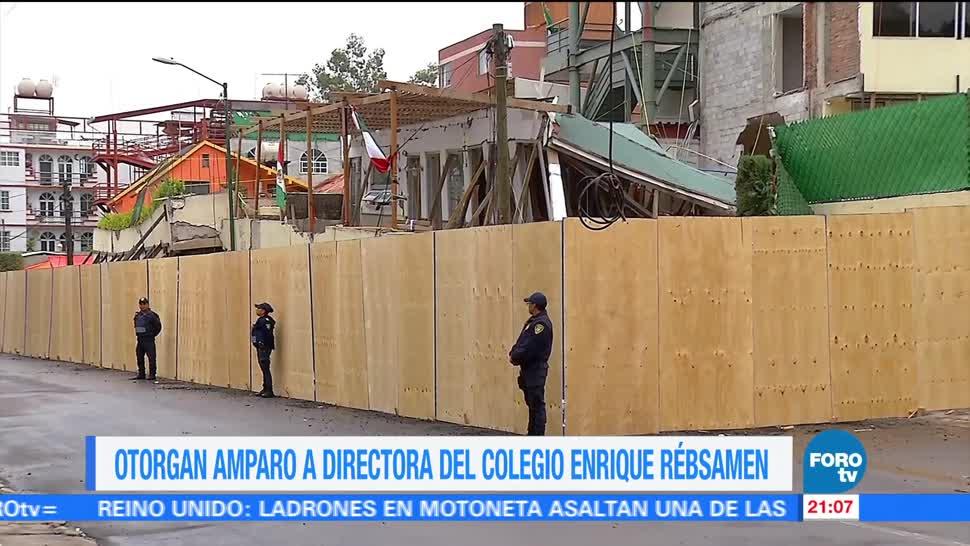 Otorgan amparo a directora del colegio Enrique Rébsamen