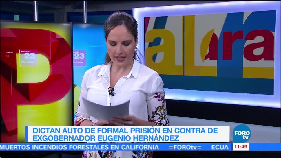 Dictan auto de formal prisión contra el exgobernador de Tamaulipas Eugenio Hernández