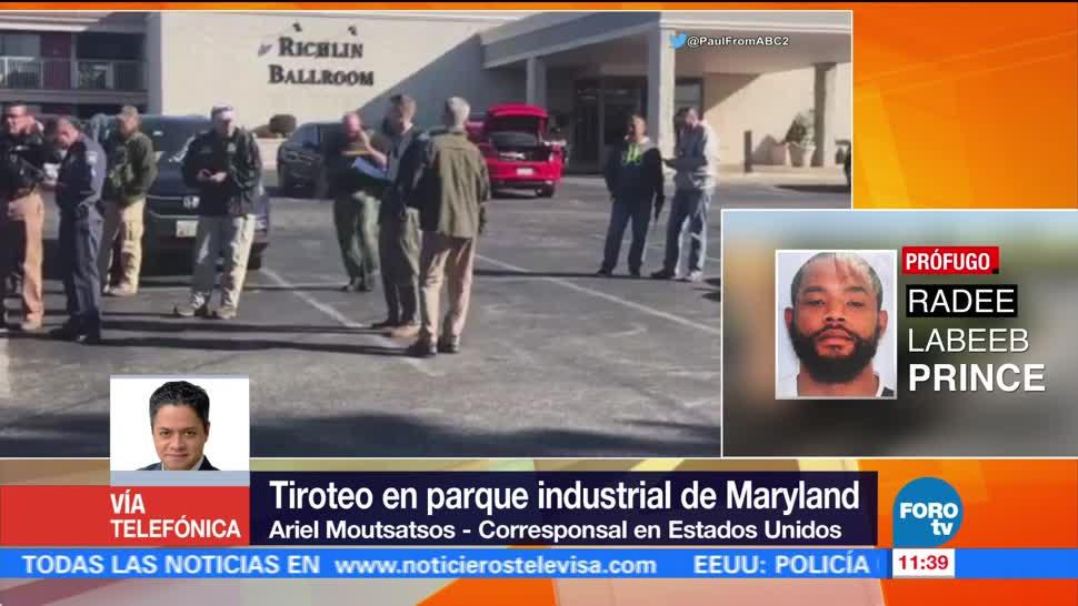 Sospechoso de tiroteo en Maryland está prófugo