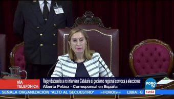 Rajoy, dispuesto a no intervenir Cataluña si Puigdemont convoca a elecciones