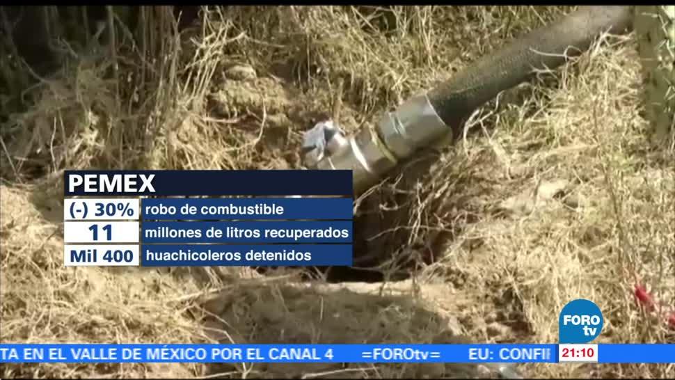 Robo de combustible disminuye en 30 por ciento: Pemex