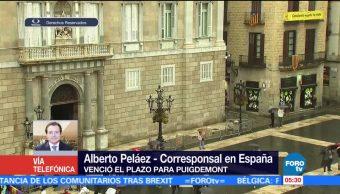 Gobierno español tomará medidas para restaurar la legalidad en Cataluña