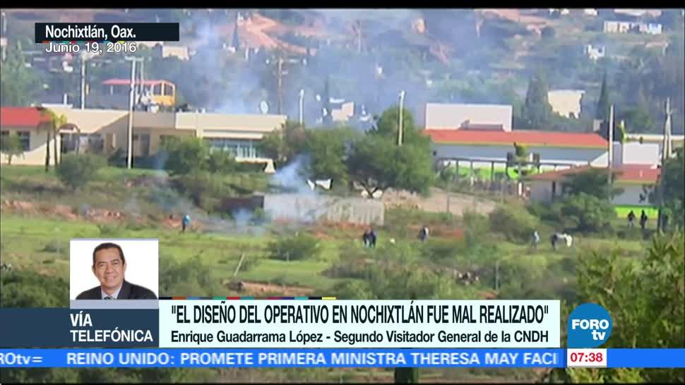 Enrique Guadarrama: CNDH determinó que hubo violaciones en caso de Nochixtlán