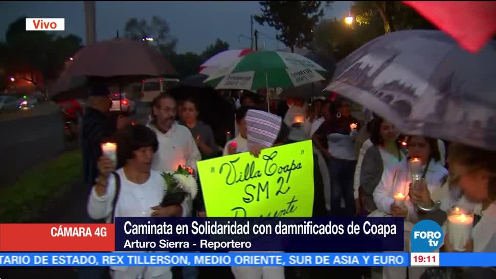 Caminan en Coapa para recordar a las víctimas del sismo