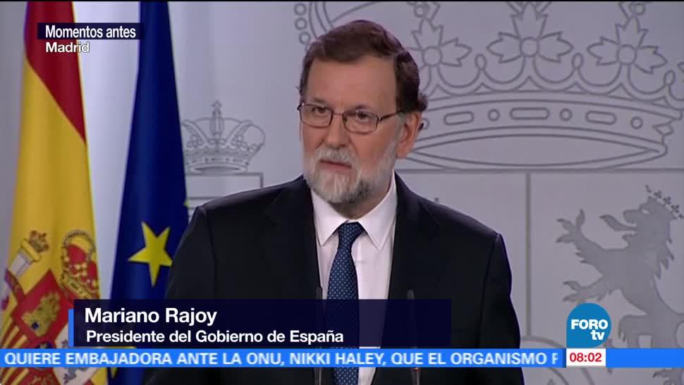 Rajoy: El gobierno regional catalán será cesado en su totalidad