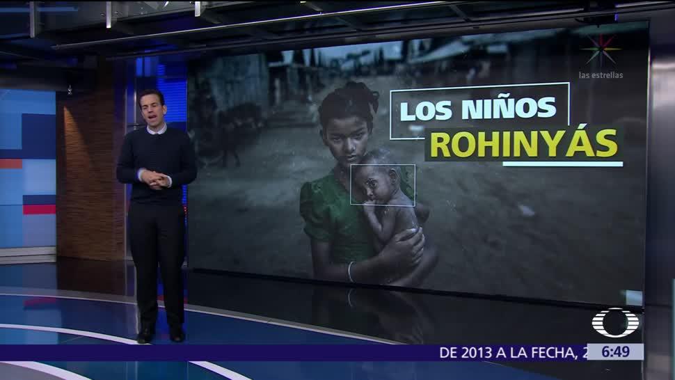 Niños, mayoría de rohinyás que han huido de la violencia en Myanmar