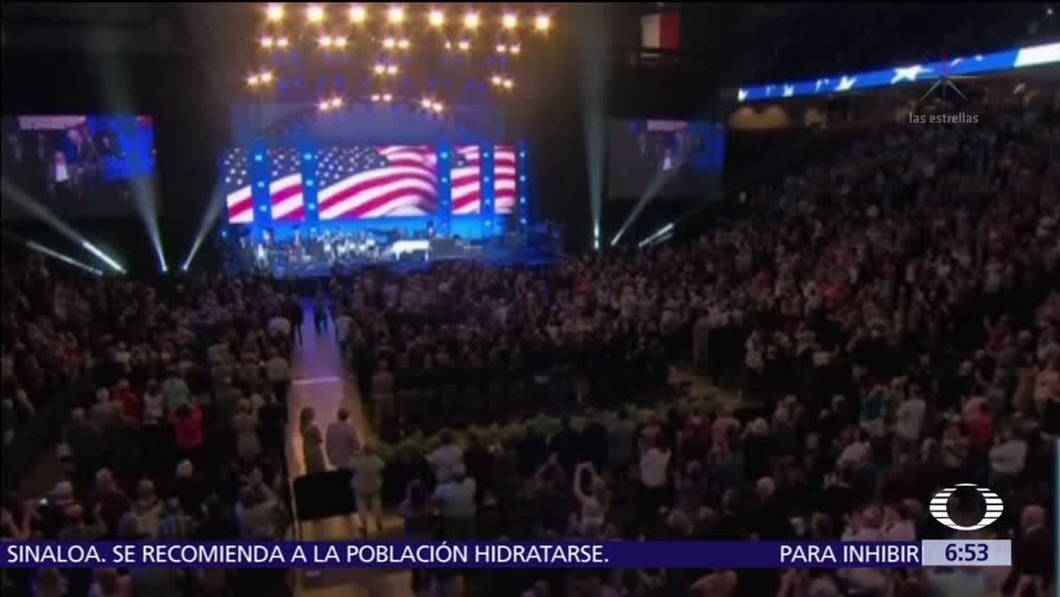 Obama, Bush, Clinton y Carter acuden a concierto por afectados de 'Harvey'