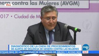 CNDH difunde diagnóstico sobre procedimientos de alerta de género