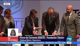 Teletón e ISSSTE firman convenio de colaboración