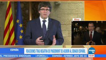 Puigdemont se niega a acudir al Senado español