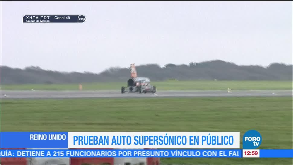 Prueban auto supersónico en Reino Unido