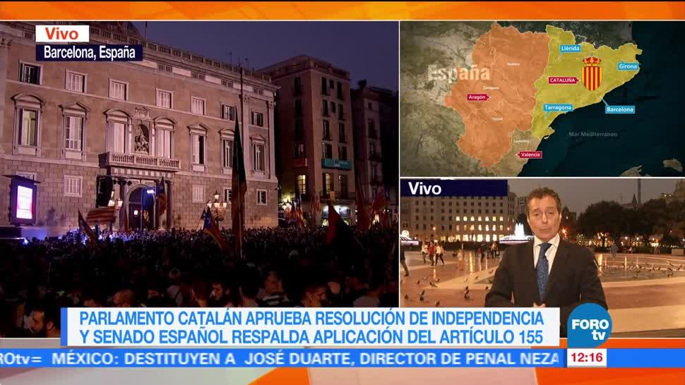 Horas de incertidumbre en Cataluña tras declaración unilateral de Independencia