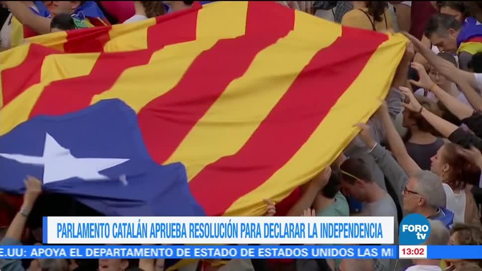 Manifestaciones a favor de la declaración de Independencia en Cataluña