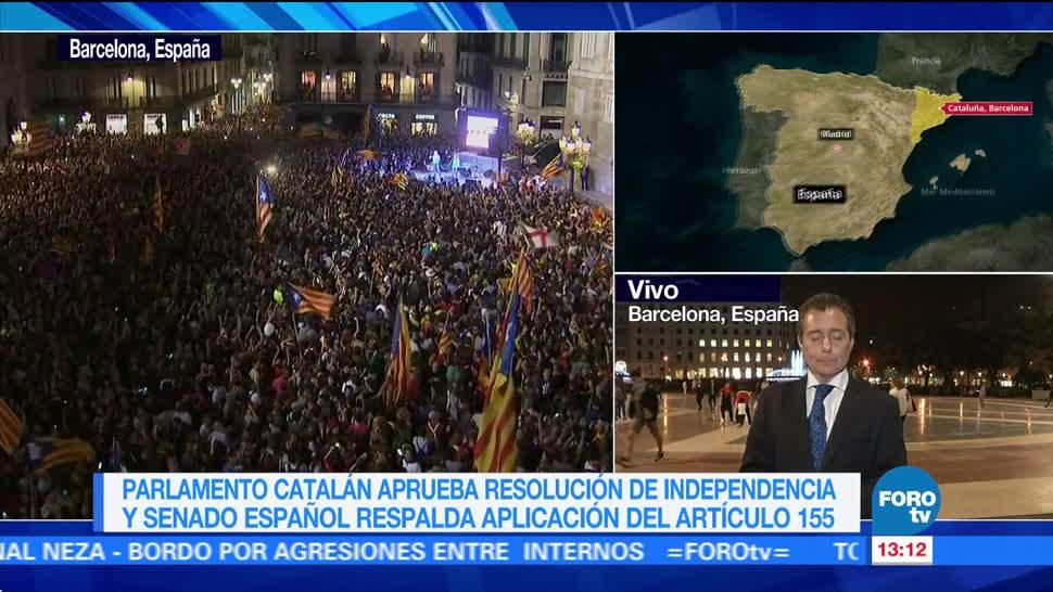 Catalanes siguen vida normal horas después de declaración de Independencia