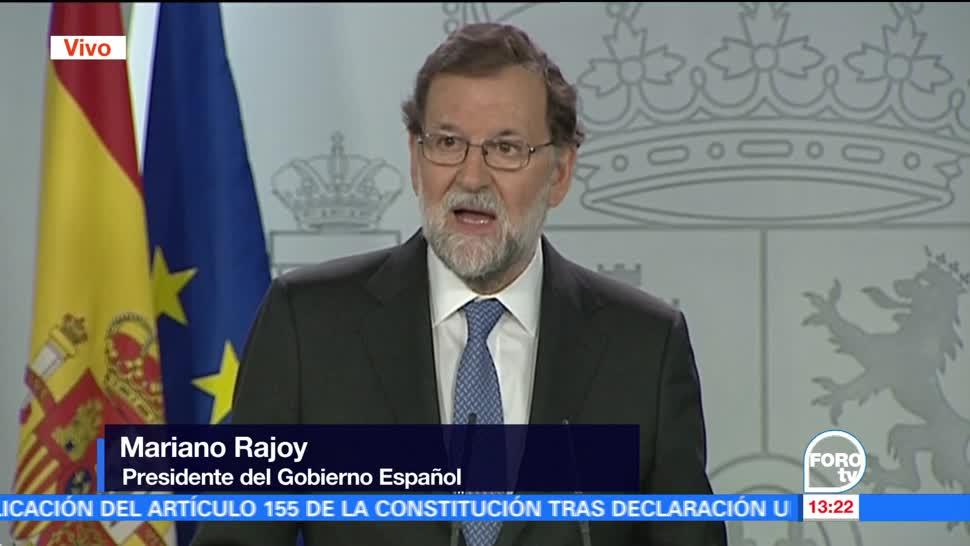 Mariano Rajoy anuncia la disolución del Parlamento de Cataluña