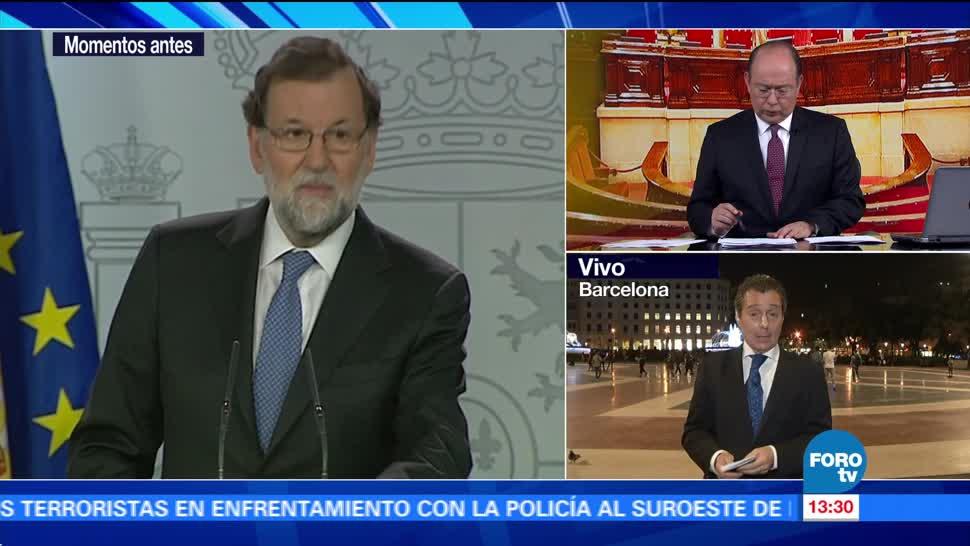 Reacciones tras anuncio de Rajoy para disolver el Parlamento de Cataluña