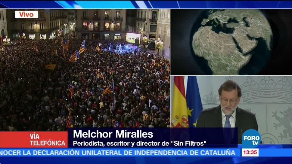 """Votación secreta por independencia en Cataluña """"es una vergüenza"""", afirma Melchor Miralles"""