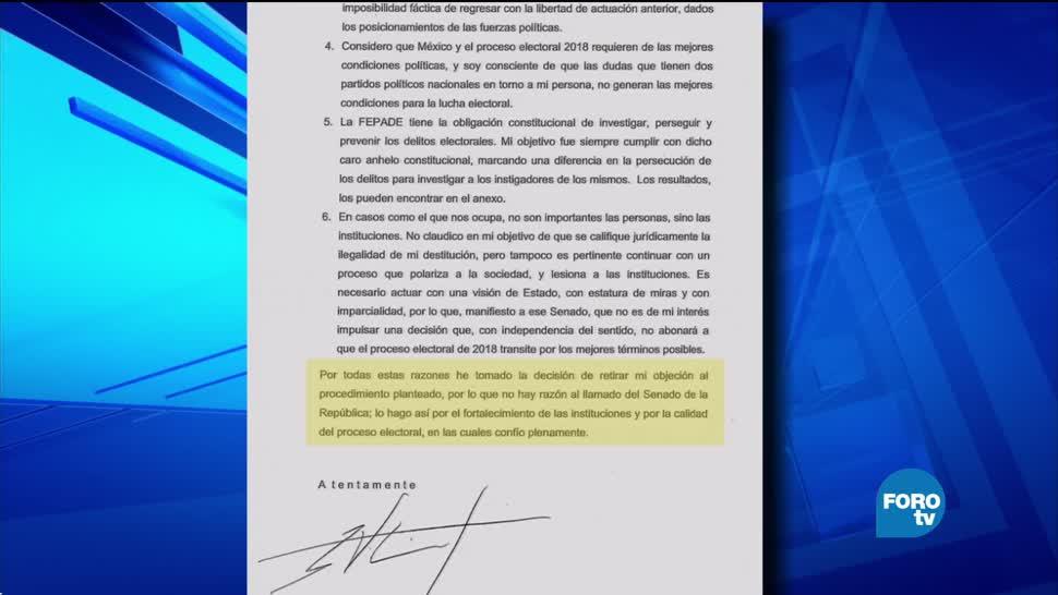 Santiago Nieto señala que no quiere ser restituido como titular de la Fepade