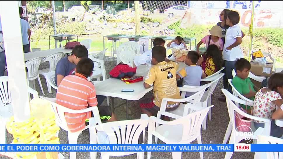 Miles de niños continúan sin clases tras sismo en Oaxaca